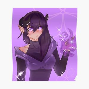 Aphmau Purple Girl Poster RB0907 product Offical Aphmau Merch