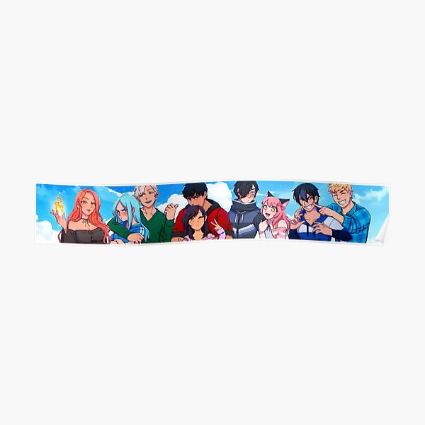 Aphmau and Friends Poster RB0907 product Offical Aphmau Merch
