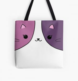 Aphmau cat pink and purple All Over Print Tote Bag RB0907 product Offical Aphmau Merch