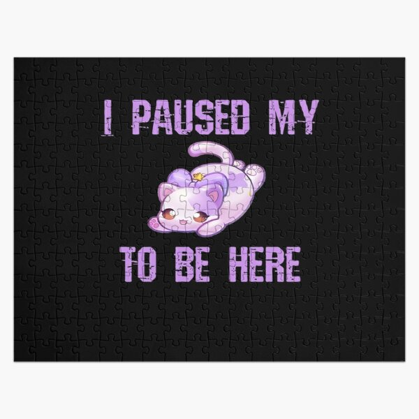 I paused my Aphmau to be here Jigsaw Puzzle RB0907 product Offical Aphmau Merch