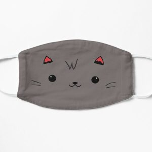 Aphmau Aaron cat pink and purple Flat Mask RB0907 product Offical Aphmau Merch