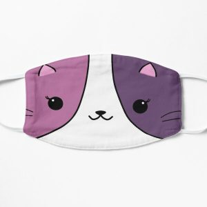 Aphmau cat pink and purple Flat Mask RB0907 product Offical Aphmau Merch