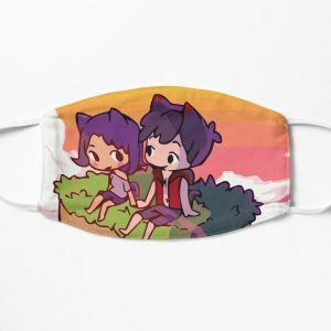 Aphmau and Aaron in love Flat Mask RB0907 product Offical Aphmau Merch